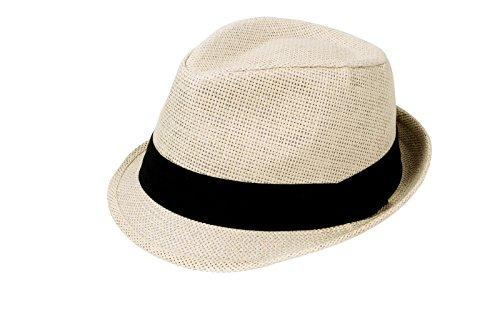 Simplicity® Summer Sun Short Brim Straw Fedora Hat, Natural LXL