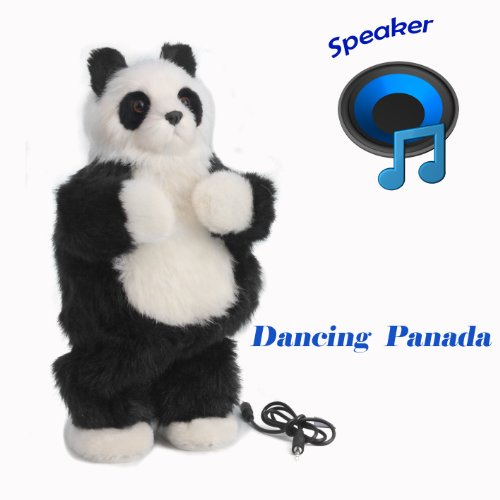 "Thumbs up dancing cat speaker , toys Stands 12""Tall,Soft Toy Speaker compatible with PC, tablet , iPhone, iPod, Smartphone and MP3 Player etc (Black panada)"