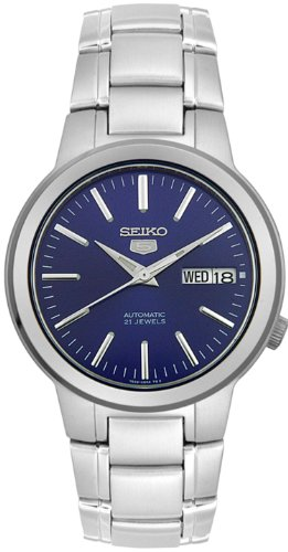 Seiko Gents Automatic Blue Dial Stainless Steel Bracelet Watch SNKA05K