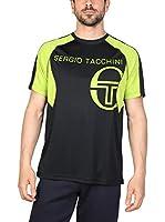 Sergio Tacchini Camiseta Manga Corta (Negro / Lima)