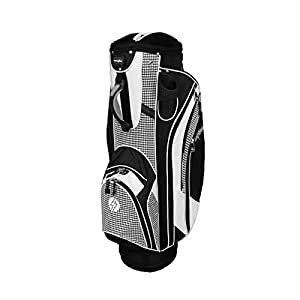 PowerBilt Golf Dynasty Cart Bag, Black/White Plaid