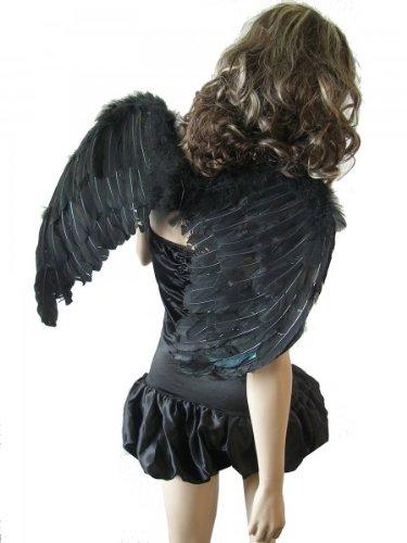 Faschingskostume 2012 Kostum Schwarzer Engel Bandeau Kleid
