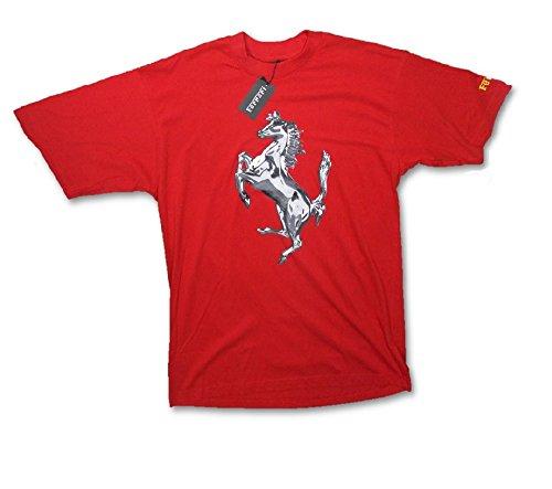 """Scuderia Ferrari F1 Team, da uomo, con grafica di cavallo """", colore: rosso rosso  rosso XL"""