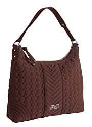 Vera Bradley Microfiber Collection - Hobo Bag in Espresso Brown