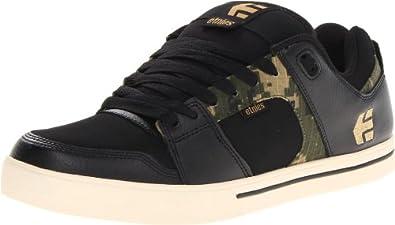 etnies Men's Rockfield Skate Shoe,Black/Camo,7.5 D US