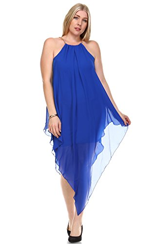 Zoozie LA Women's Plus Size Cocktail Dresses Asymmetrical Hem