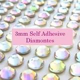 300 AB Clear 3mm Acrylic Rhinestone Gems ~ Self Adhesive