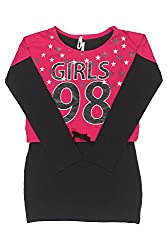 Poppers by Pantaloons Girl's Crew Neck T-Shirt (205000005621716, Pink, 15-16 Years)