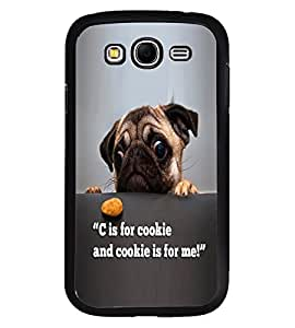 Fuson Premium C For Cookie Metal Printed with Hard Plastic Back Case Cover for Samsung Galaxy Grand 2 G7102 G7106