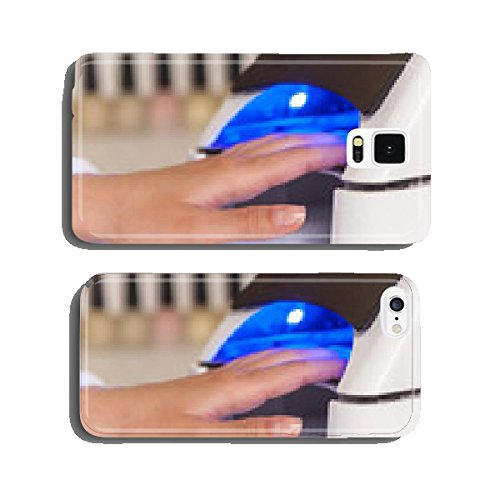 Manicure in process using Uv lamp for nails. cell phone cover case Samsung S5 (Cell Phone Uv Lamp compare prices)