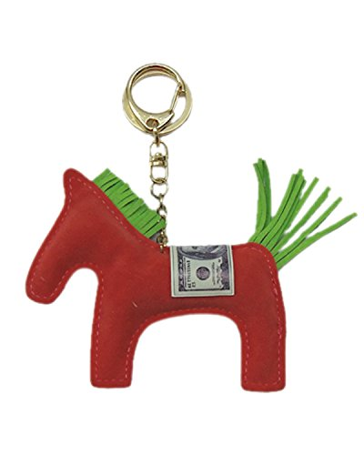 Young & Forever Handmade Suede Leather Cute Animal Racing Trojan Key Chain Bag Charm (Carrot Red Color) By CrazeeMania...