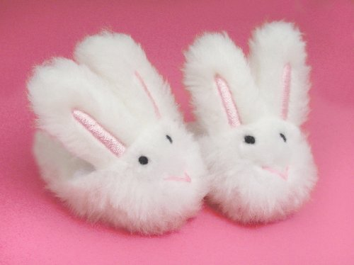 Doll Slippers- White Bunny Slippers, Sized for