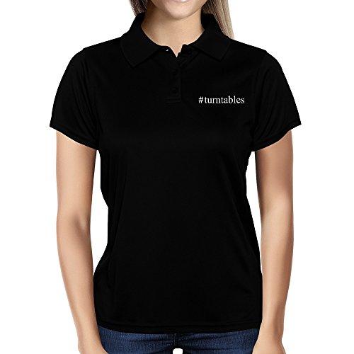 Idakoos-Turntables-Hashtag-Instruments-Women-Polo-Shirt