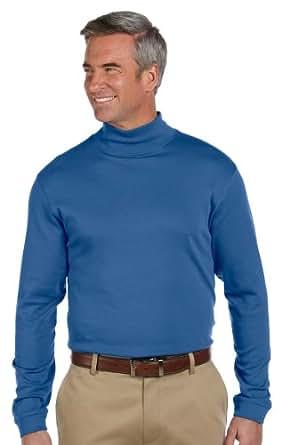 Chestnut Hill Long Sleeve Pima Cotton Mock Neck Turtleneck Shirt CH230 blue X-Small