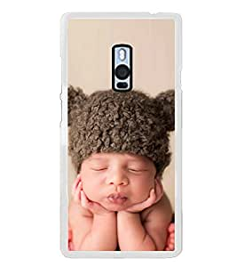 Cute Kid with Brown Cap 2D Hard Polycarbonate Designer Back Case Cover for OnePlus 2 :: OnePlus Two :: One +2