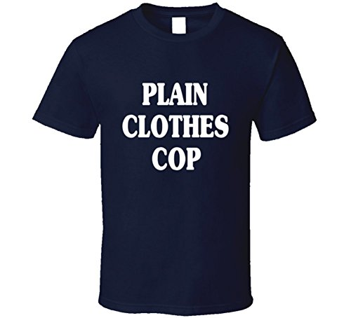 Plain Clothes Cop Funny Halloween Uniform Costume T Shirt M Navy (Cop Uniform Halloween)