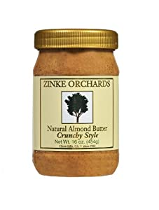 Zinke Orchards Crunchy Almond Butter (3 Pack) 16oz Jars