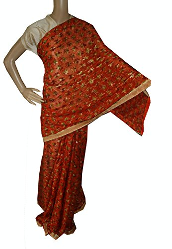 Beautiful RUDA Designer Phulkari Embroidered Saree-JS1092