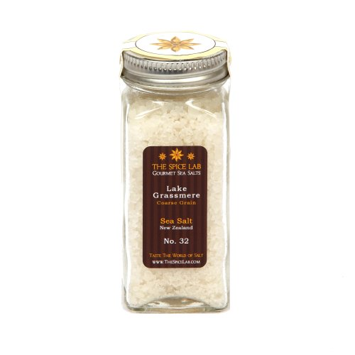 The Spice Lab Lake Grassmere, Coarse Grain Sea Salt, New Zealand (Pack of 4)