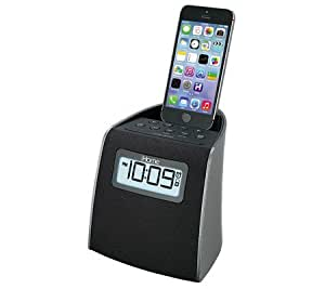 ihome clock radio with customizable alarm buzzer and top docking. Black Bedroom Furniture Sets. Home Design Ideas