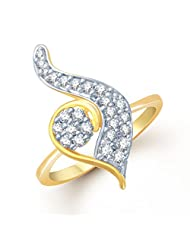Meenaz Gleaming Gold And Rhodium Plated Cz Ring FR101 For Women