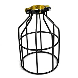 Newhouse Lighting Metal Lamp Guard for Pendant String Lights and Lamp Holders, Single Pack