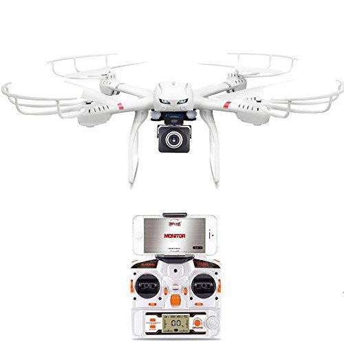 GoolRC MJX X101 2.4G 4CH 6 Ejes Giro Wifi FPV RC Quadcopter con MJX C4008 720p Cámara Aérea Componentes