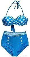 Bikini femme 2 pieces maillot de bain Haut et bas,Taille haute style,multi-motifs