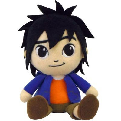Japan Disney Official Big Hero 6 - Hiro Hamada Basic Medium Size Cute Sitting Mascot Soft Plush Stuffed Toys Blue Orange Shirts Cushion Kids Doll Plushie House Room Table Decor Accessory