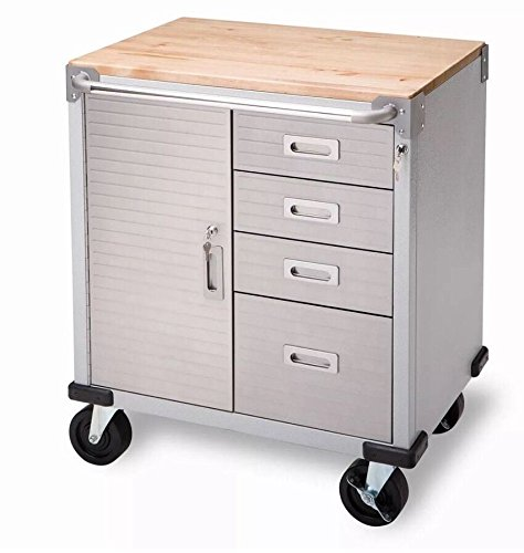 Seville 4-Drawer Rolling Garage Steel Metal Storage Cabinet Tool Box Work Bench (Milk Shed Heater compare prices)