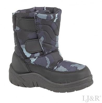 Boys wildcat black winter warm snow boots size toddler 7 5 euro 25