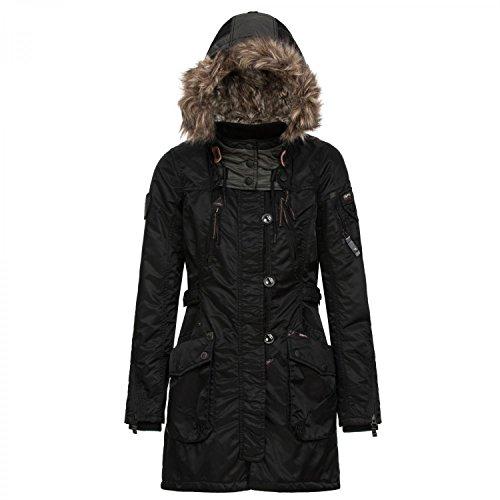 khujo Damen Winterjacke Romane 1018CO153 Black XL