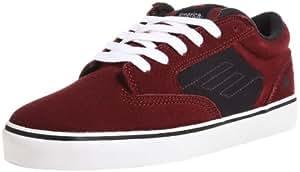 Emerica Mens JINX Skateboard Shoes  Red Rot (red/blue/white) Size: 5 (38 EU)