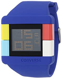 Converse Men's VR014450 High Score Black Digital Dial and Blue Silicone Strap Watch