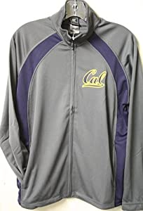 California Golden Bears Rival Charcoal Full Zip Jacket by Colosseum