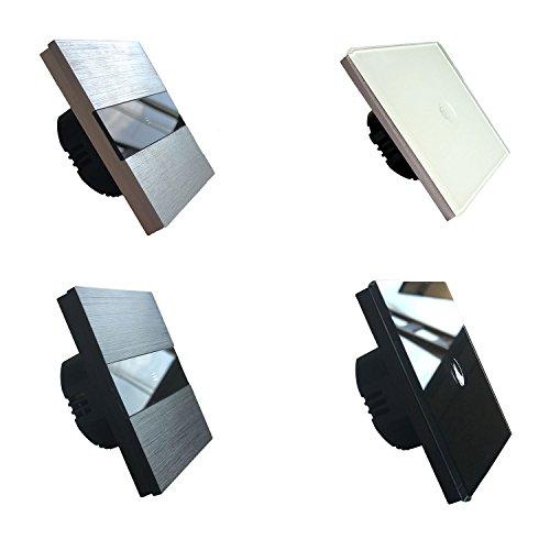 interrupteur tactile 1 bouton lumtouch design moderne pur et l gant garantie 5 ans. Black Bedroom Furniture Sets. Home Design Ideas