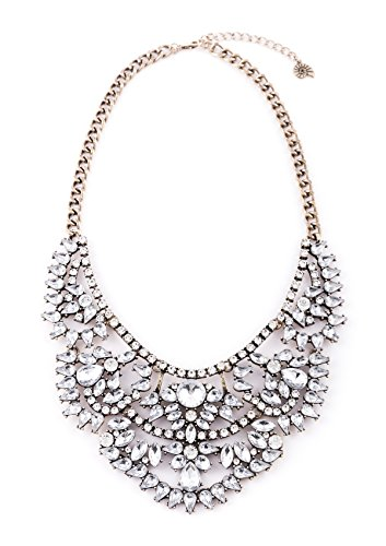 "Happiness Boutique Damen Elegante Statement Kette in Neutraler Farbe ""Liebesgeschichte"""