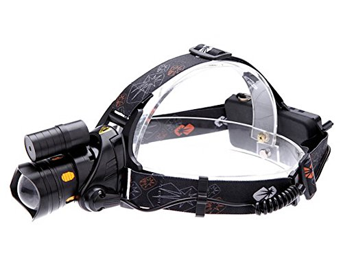 Headlight Head Lamp Xml T6 Led 2200Lm 3 Modes 90 Degree With Red Adapter Car Charger For Camping Fishing