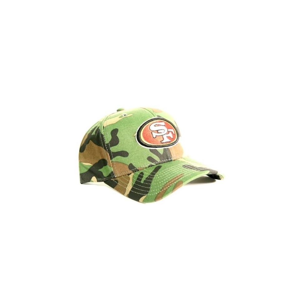 San Francisco 49ers Camouflage Baseball Cap   Dark Green
