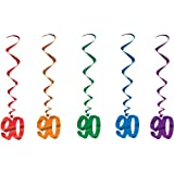 90 Whirls (asstd colors) Party Accessory  (1 count) (5/Pkg)