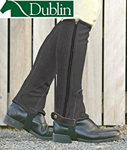 Dublin Easy Care Half Chaps - Brown, Childs Medium