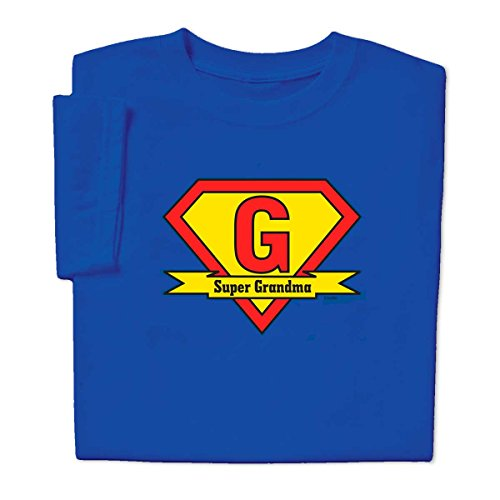 Super Grandma T-shirt, Royal, XL (Super Hero Tee Shirts For Women compare prices)