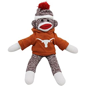 NCAA Texas Longhorns 11'' Team Sock Monkey at 'Sock Monkeys'