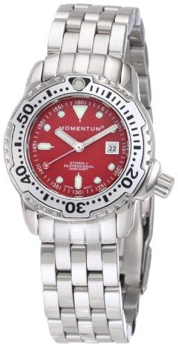 Momentum Ladies 1M-DV83R0 Storm II Red Dial Steel Bracelet Watch