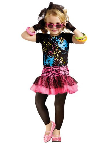 [Little Girls' 80s Pop Party Costume 3T-4T by Fun World] (80s Pop Party Girls Costume)