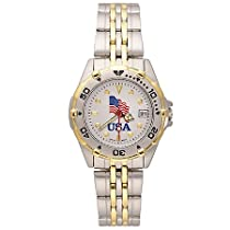 Usa Flag All Star Stainless Ladys Watch