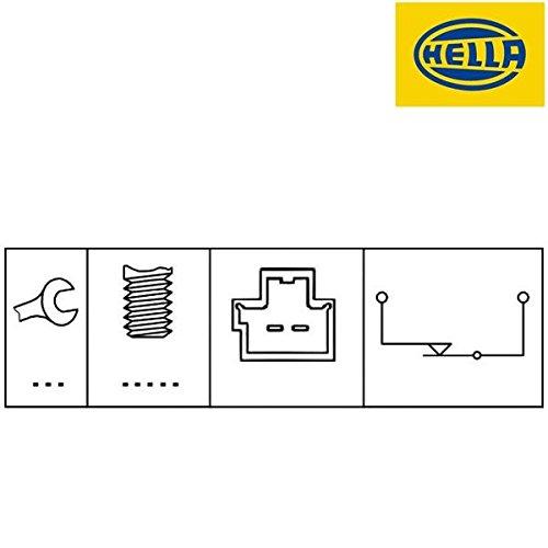 Hella 6DD 010966-001Interruptor de luz de freno