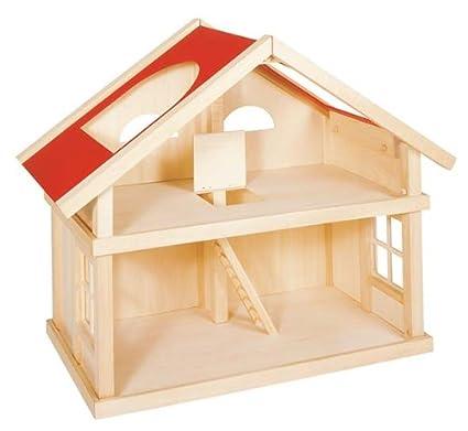 Maison de poupées 2 étages - livrée sans meubles ni poupées