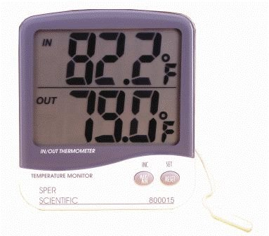 Large Display Digital Indoor Outdoor Thermometer by Sper Scientific