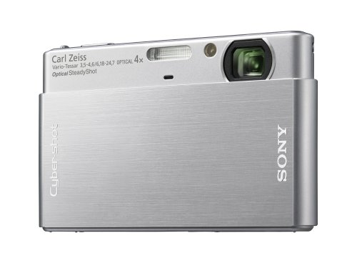 Sony Cybershot DSC-T77 10.1MP Digital Camera with 4x Optical Zoom with Super Steady Shot Image Stabilization (Silver)